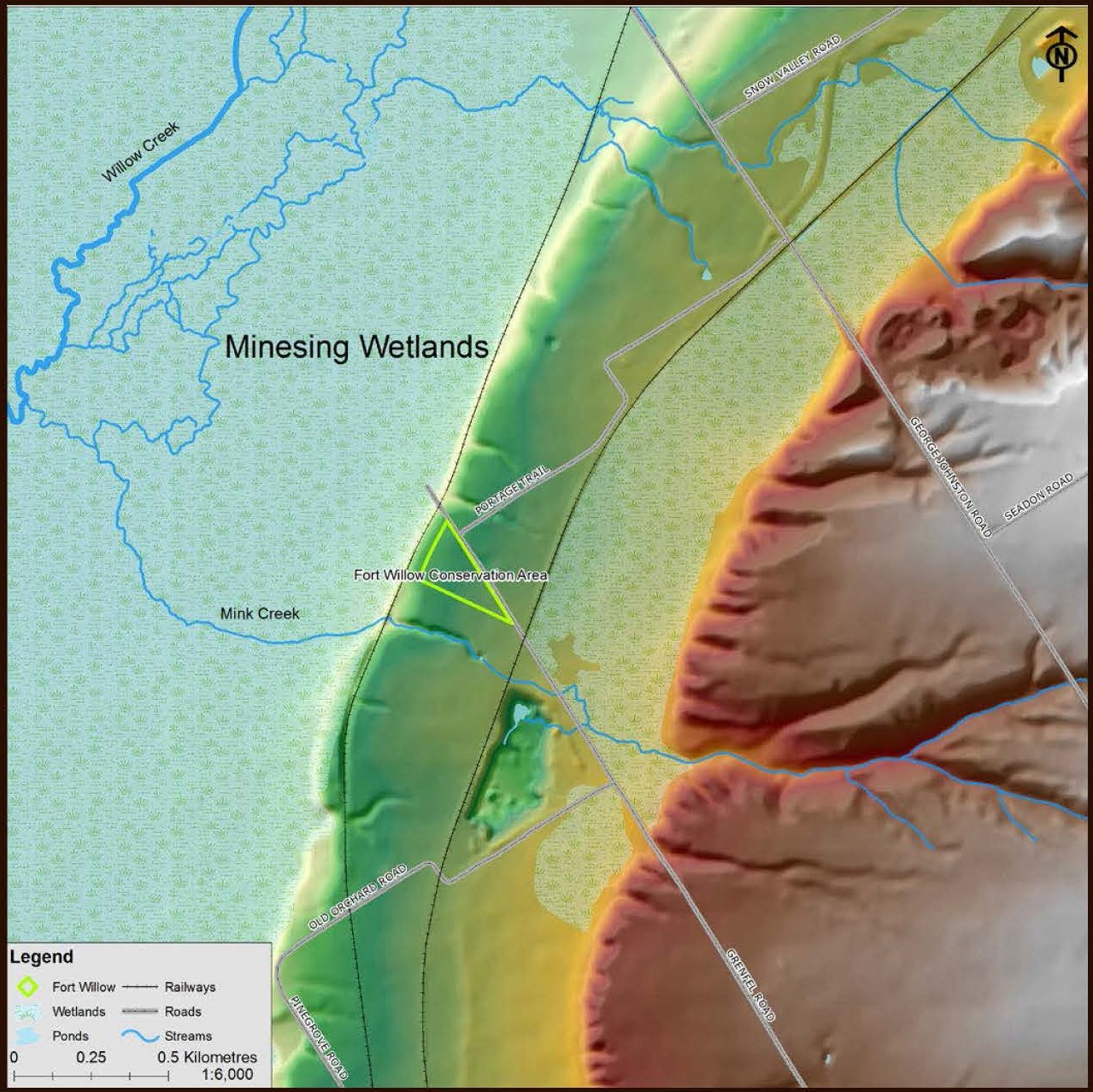 topographic map Fort Willow